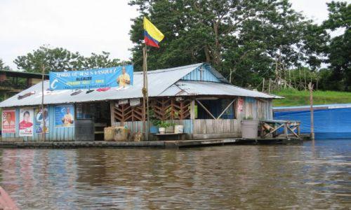 KOLUMBIA / amazonas / puerto narino / spożywczak na Amazonce
