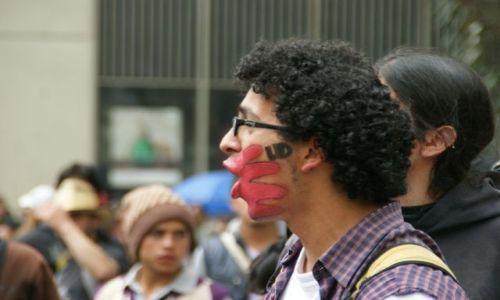 Zdjecie KOLUMBIA / Bogota / Bogota / Strajk