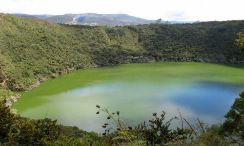 KOLUMBIA / Okolice Bogoty / Guatavita / Jezioro Guatavita