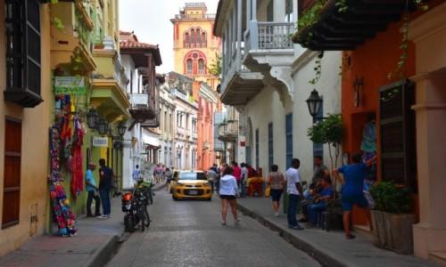 KOLUMBIA / Cartagena de Indias / Ciudad Amurallada / Uliczka starego miasta