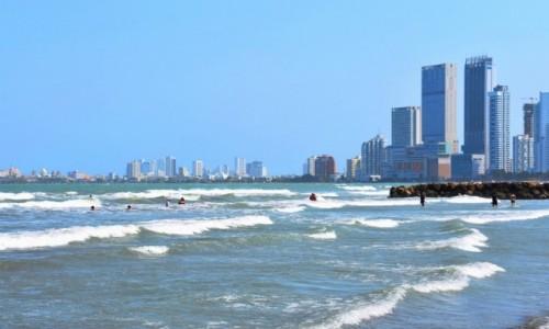 KOLUMBIA / Cartagena de Indias / Wybrzeże / Wybrzeże w Kartagenie