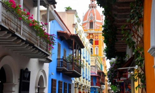 Zdjecie KOLUMBIA / Cartagena de Indias / Stare miasto / Kolory starej Kartageny