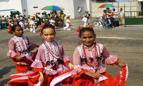 Zdjecie KOLUMBIA / Wybrzeze Morza Karaibskiego / Barranquilla / Carnaval de los niños 1
