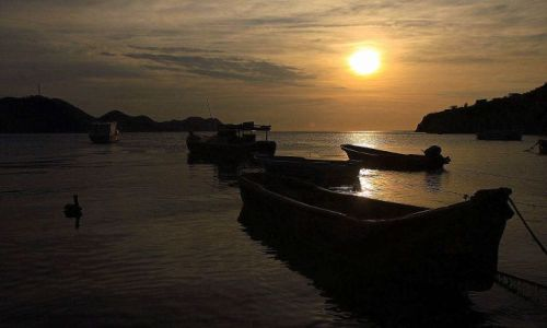 KOLUMBIA / płn Kolumbia / wioska rybacka / Taganga
