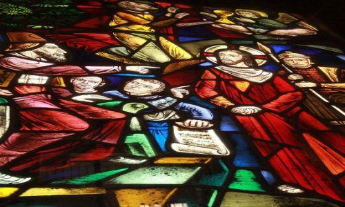 Zdjecie KOLUMBIA / Bogota / Bogota / Jeden z witraży kościoła na Monserratte
