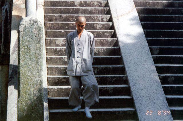 Zdjęcia: Pobliże miasta Taegu, Mnich Buddyjski, KOREA POŁUDNIOWA