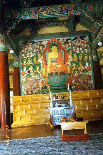 Zdjęcia: Pusan, Wnętrze świątyni buddyjskiej, KOREA POŁUDNIOWA