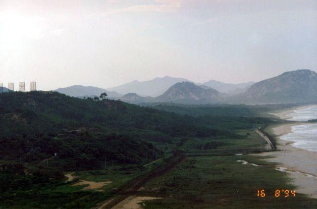Zdjęcia: Na granicy z Koreą Północną, Widok gór Korei Północnej, KOREA POŁUDNIOWA