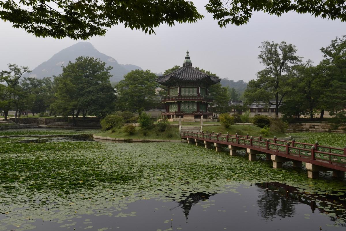 Zdjęcia: Seul, Seul, Pawilon Hyangwonjeong, KOREA POŁUDNIOWA