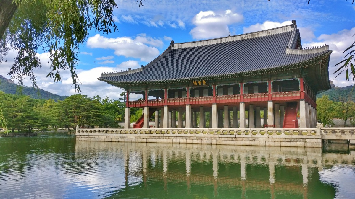 Zdjęcia: Gyeonghoeru Pavilion, Seul, Pavilion.., KOREA POŁUDNIOWA