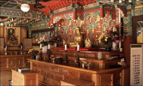 Zdjęcie KOREA POŁUDNIOWA / - / Oeosa / w świątyni 2