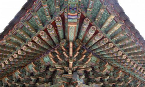 Zdjęcie KOREA POŁUDNIOWA / Gyeongju / Bulguksa Temple / dach swiatyni
