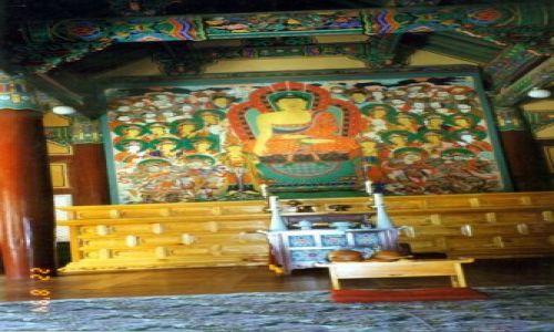 Zdjecie KOREA POŁUDNIOWA / brak / Pusan / Wnętrze świątyni buddyjskiej