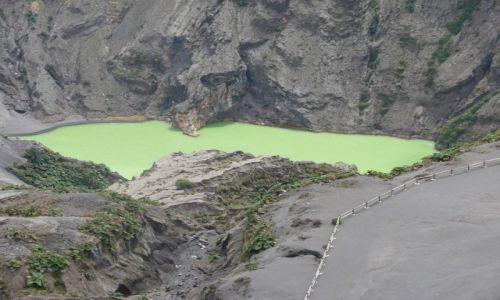 Zdjęcie KOSTARYKA / Park Narodowy / Irazu / Jezioro w kraterze Irazu