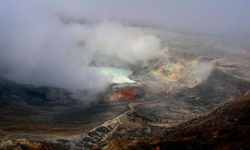 Zdjecie KOSTARYKA / Wulkan Poas / Wulkan Poas / Krater wulkanu Poas