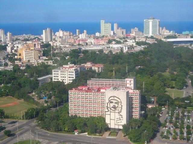 Zdjęcia: Plaza la Revolucion, Havana, Widok z lot sepa, KUBA