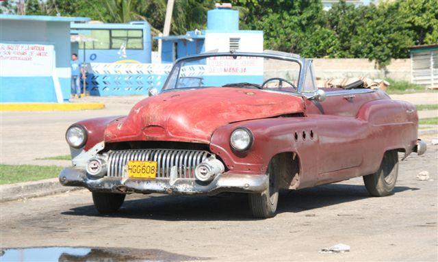 Zdjęcia: wieś, półwysep Zapata, stary samochód, KUBA