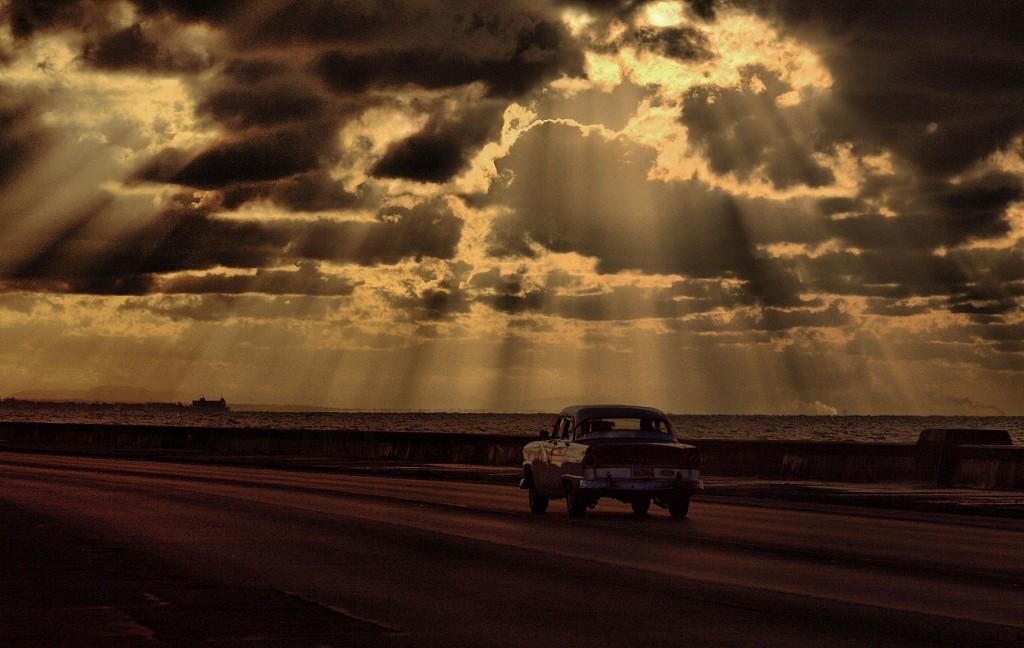 Zdjęcia: promenada Malecon, Hawana, Malecon późnym popołudniem, KUBA