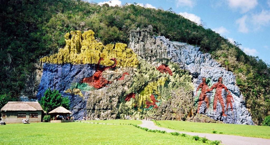 Zdjęcia: Dolina Vinales, Pinar del Rio, Skalne malowidło, KUBA