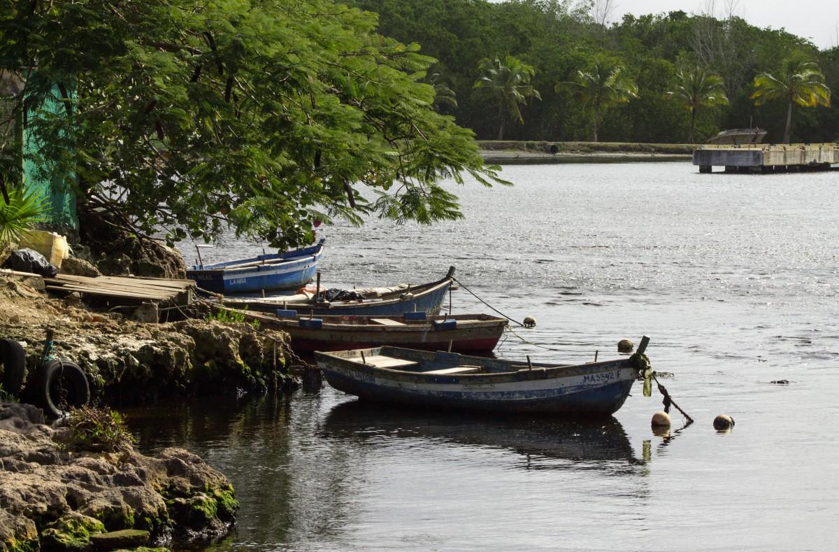 Zdjęcia: Playa Larga, Prowincja Matanzas, Łodzie, KUBA
