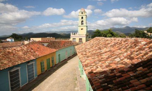 KUBA / Sancti Spiritus / Trynidad de Cuba / Trynidad de Cuba, widok z wieży muzeum miejskiego