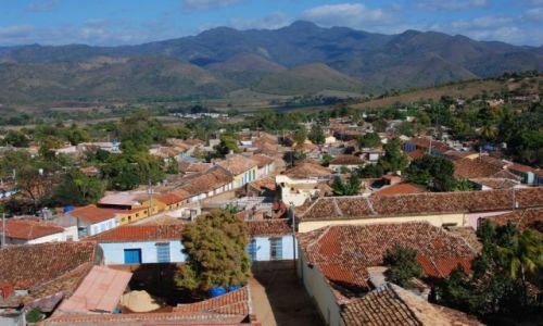 KUBA / środkowa Kuba / Trinidad / Widok na miasteczko