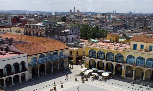 Zdjęcie KUBA / Havana / Plaza Vieja / Rzut oka z góry