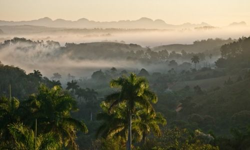 Zdjęcie KUBA / prowincja Pinal del Rio / dolina Vinales / Nowy dzień wstaje nad doliną Vinales