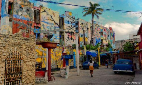 KUBA / Hawana / ulica Callejon de Hamel / uliczne kolory