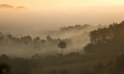 Zdjecie KUBA / Pinal del Rio / Vinales / Wstaj� mg�y