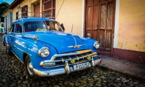 Zdjecie KUBA / trynidad / trynidad / taxi taxi