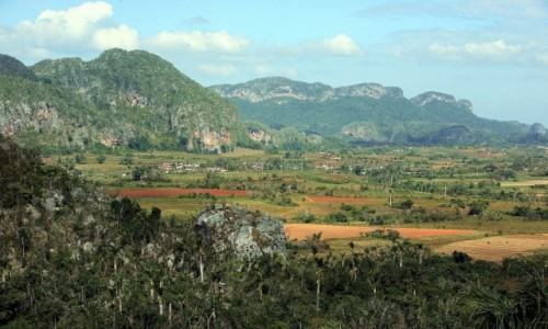 Zdjęcie KUBA / Pinar del Rio / Park Narodowy Vinales / Czerwień, zieleń i błękit