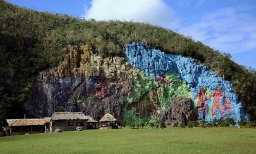 Zdjecie KUBA / Pinar del Rio / Vinales / Mural de la Prehistoria