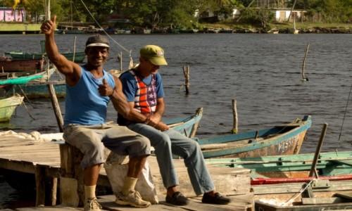 Zdjęcie KUBA / Prowincja Matanzas / Playa Larga / Kubańscy rybacy
