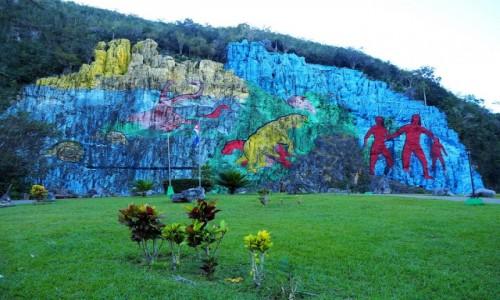 Zdjecie KUBA / Pinar del Río,  zachodnia Kuba / Valle de Vinales / Mural de la Prehistoria