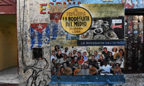 KUBA / Stolica / La Habana / La Habana restauracja sławnych ludzi
