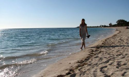 KUBA / Ancon / plaża / na plaży