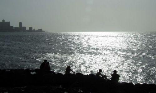 Zdjęcie KUBA / havana / malecon / zachód
