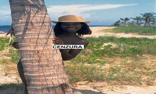 Zdjecie KUBA / Hawana / plaża / czekoladka w kapeluszu