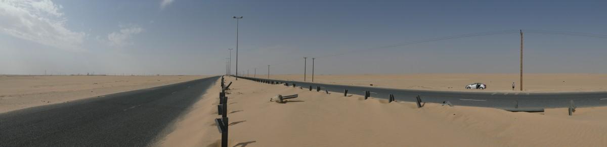 Zdjęcia: Wafra, Al-Ahmadi, Pustynna droga, KUWEJT