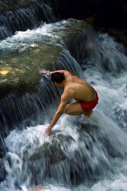 Zdjęcia: Quang Xi, Luangprabang, woda orzezwia, LAOS