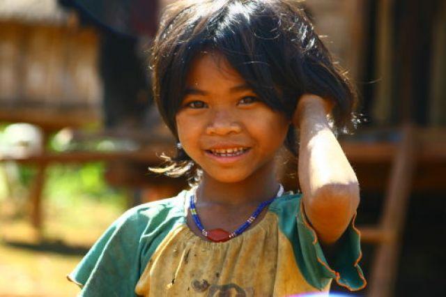 Zdj�cia: P�askowy� Bolaven, Ma�a mieszkanka Bolaven, LAOS