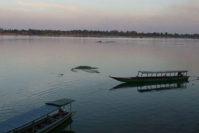 Zdjęcia: Si Pha Don-wyspy na Mekongu, Zmierzch na Don Kong, LAOS