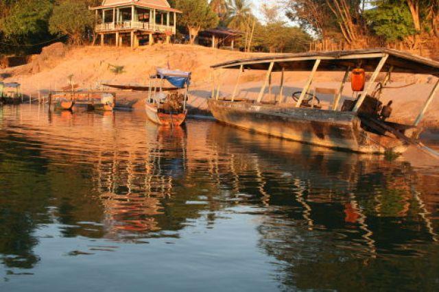 Zdjęcia: Si Pha Don, Łodzie na Mekongu, LAOS