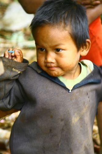 Zdj�cia: P�askowy� Bolaven, Dzieci z plantacji kawy2, LAOS