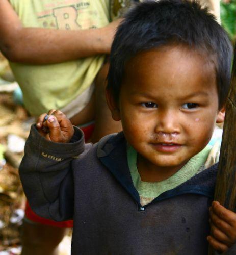 Zdjęcia: Płaskowyż Bolaven, Dzieci z plantacji kawy3, LAOS