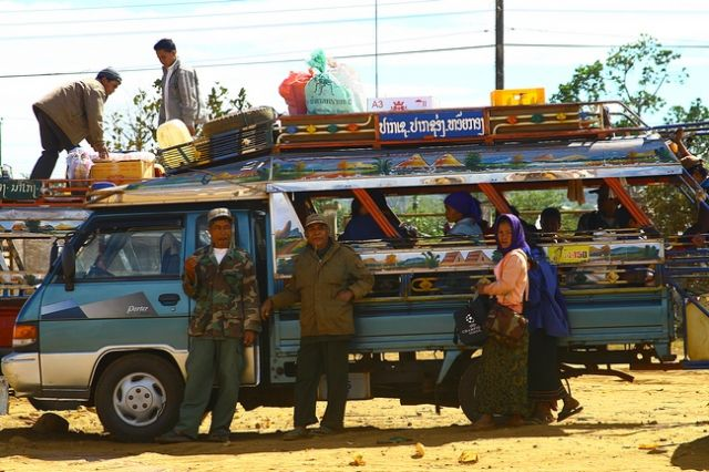 Zdj�cia: Bolaven, Targ dzienny-przed odjazdem, LAOS