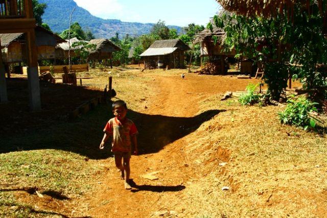 Zdjęcia: Płaskowyż Bolaven, Wioska na płaskowyzu, LAOS