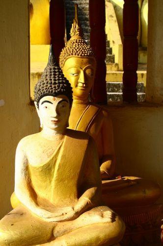 Zdj�cia: Vientiane, Z�ota Stupa, LAOS