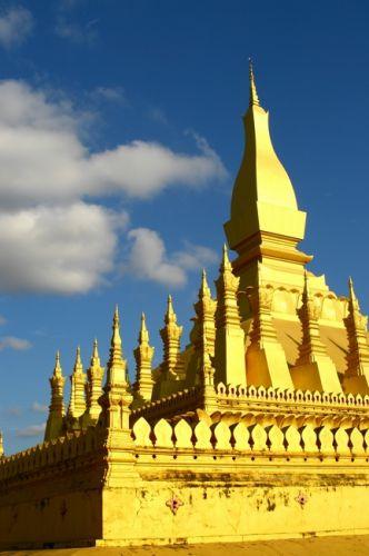 Zdjęcia: Vientiane, Złota Stupa__, LAOS